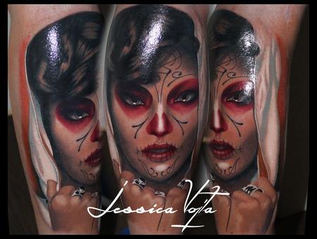 Muerte  Hodded  Portrait  Woman   Color Lower Leg