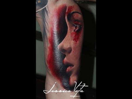 Portrait  Makeup  Woman  Red   Color Arm