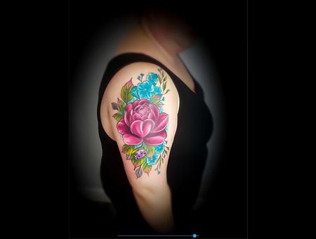 Color  Peony  Flowers  Leaves  Ladybug Color Arm