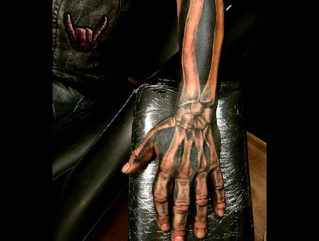 Skeleton Sleeve Tattoo. #Inkandarttattoo Black Grey Arm