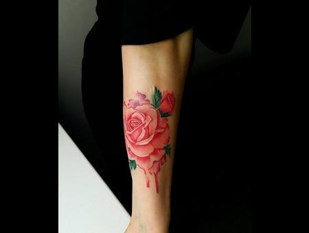 Rose Tattoo. #Inkandarttattoo Ink & Art Tattoo Shop Color