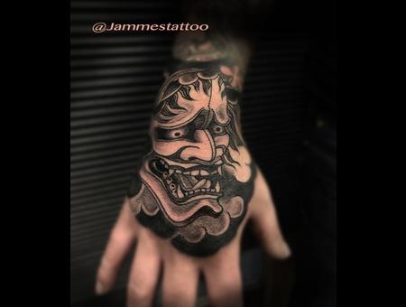 Hanya Hanyamask Irezumi Tatt Black Grey Head
