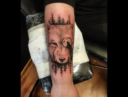 Wolf Tattoo. #Inkandarttattoo Arm