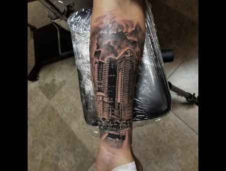 Columbus  Ohio Black Grey Forearm