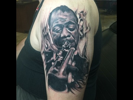 Louis Armstrong  Music  Blackandgrey Black Grey Arm