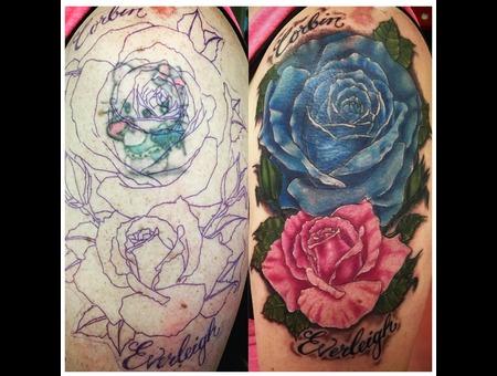 Rose Tattoo  Realism Tattoo  Illustrative Tattoo  Coverup  Color Tattoo  Color Arm