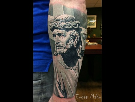 Tattoo  Realistic  Art Black Grey Forearm