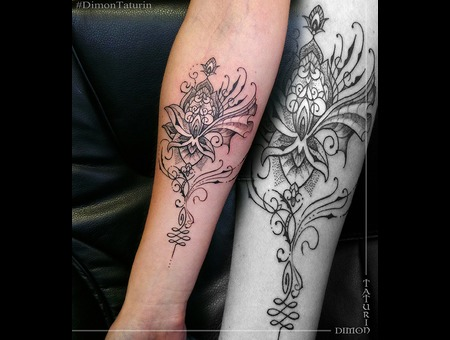 Dimon Taturin Black Grey Forearm