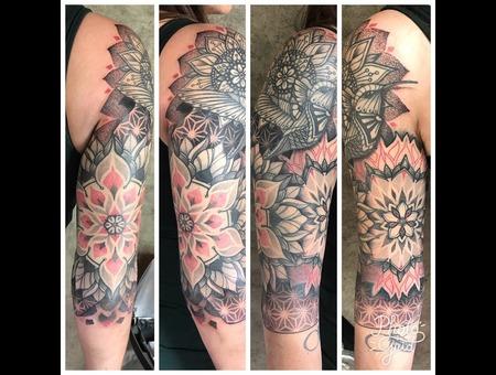 Tattoo  Mandala  Dotwork  Art Color Arm