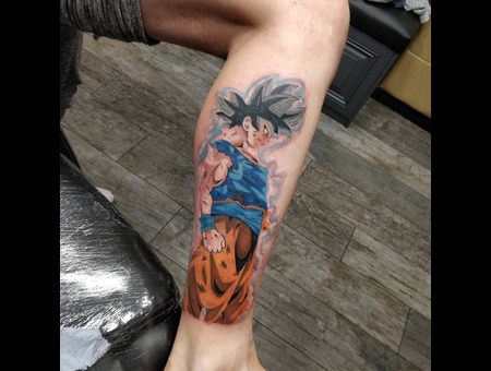 Dragon Ball Color Tattoo Loading Goku Color Lower Leg