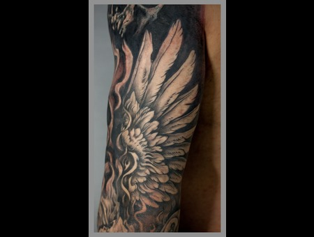 Wing  Black Grey Arm