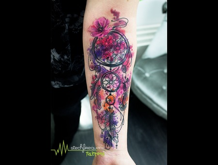 Dreamcatcher  Watercolor Color Arm