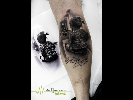 Realistic  Child Black Grey Lower Leg