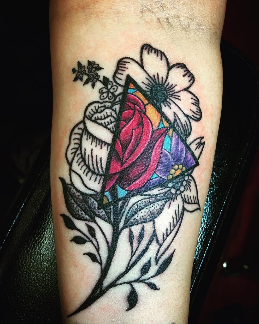 Geometric Flower Tattoo: Certified Artist