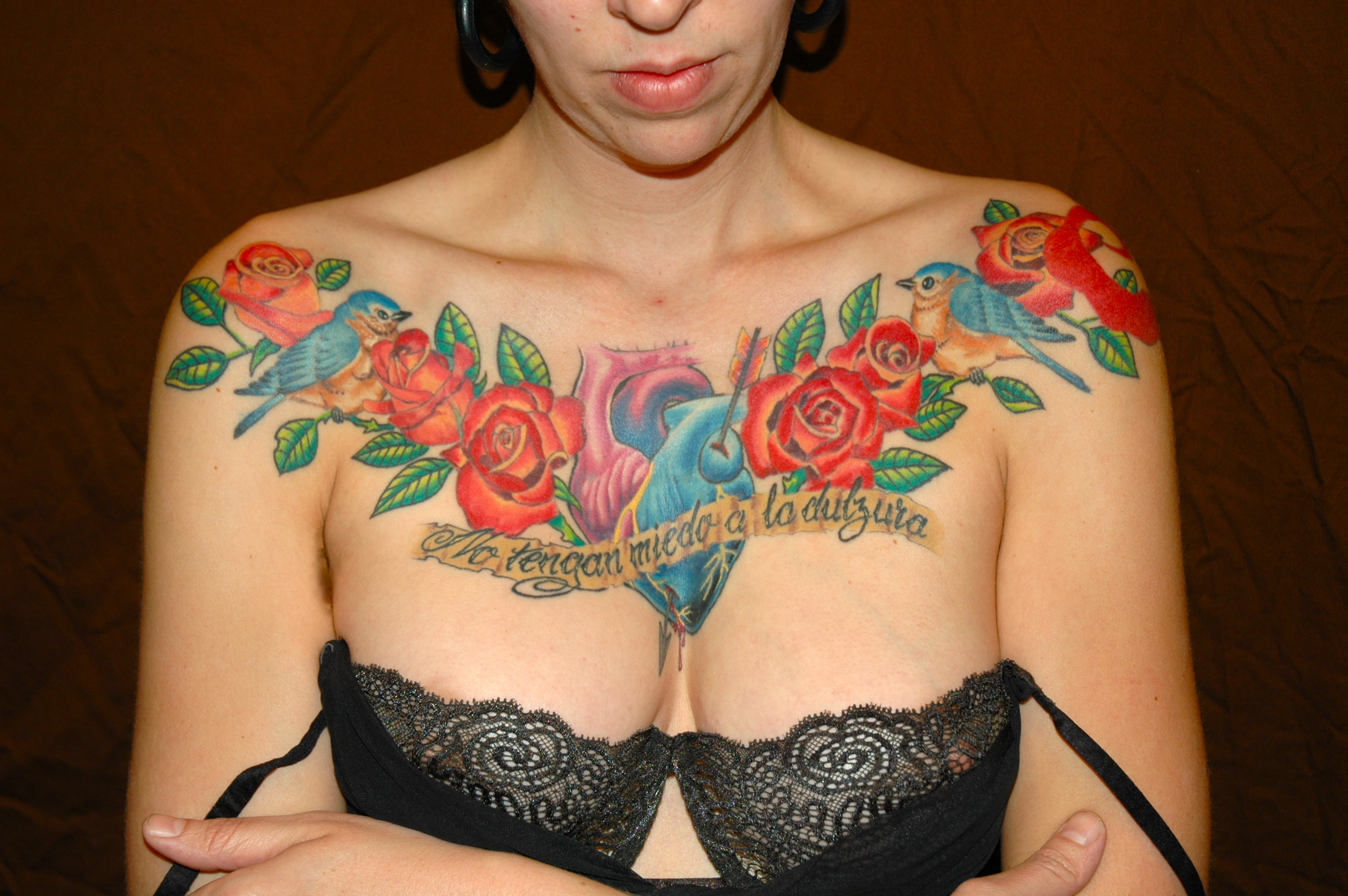Chest Plate Females Chest Tattoos Tattoo