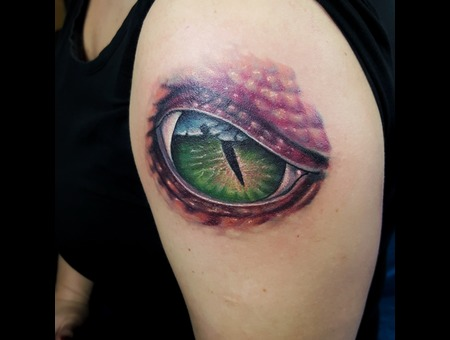 #Realistic #Realistictattoo #Eye Color Arm