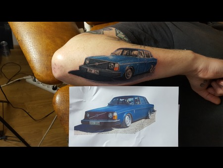 Car  Realism  Colortattoo  Volvo