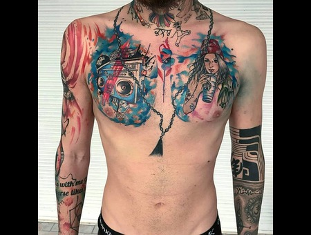 #Tattoo #Dövme #Ink #Art #Artwork Color Chest
