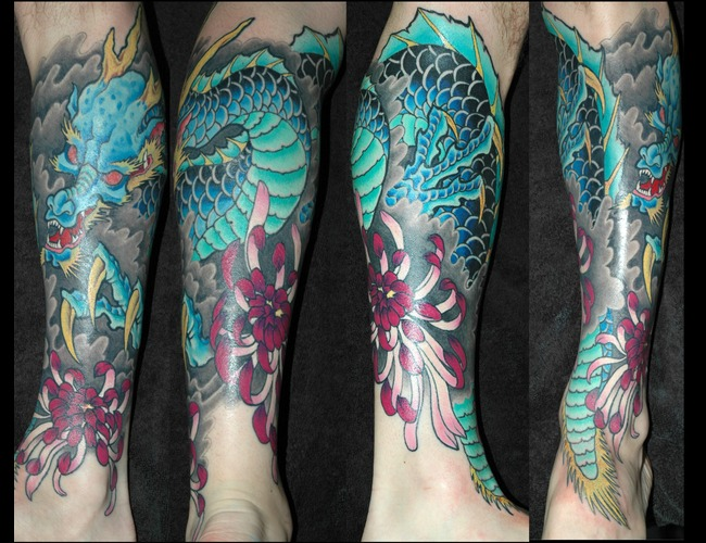 1/2 Sleeve  Dragon  Chrysanthemum  Flower Color