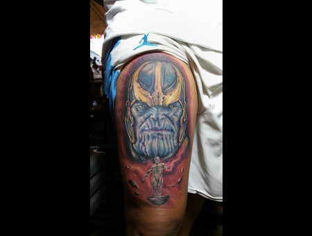 Thanos  Marvel  Infinity War  Villains Color Thigh