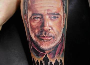 Negan, Walking Dead, Colored Portrait Negan