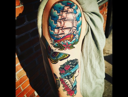 Neotraditional Tattoo  Traditional Tattoos  Illustrative Tattoo  Color Arm