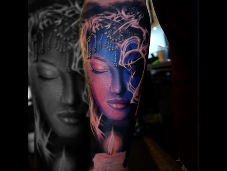 Woman  Candle Color Forearm
