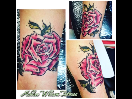 Abstract Tattoo  Rose Tattoo  Watercolor Tattoo Color Forearm