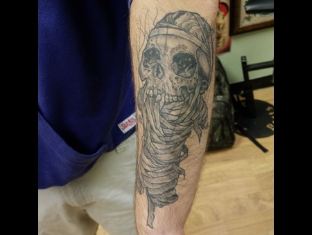 Metallica Pushead  Black Grey Forearm