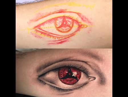 Freehand Eye With Symbol Color Forearm