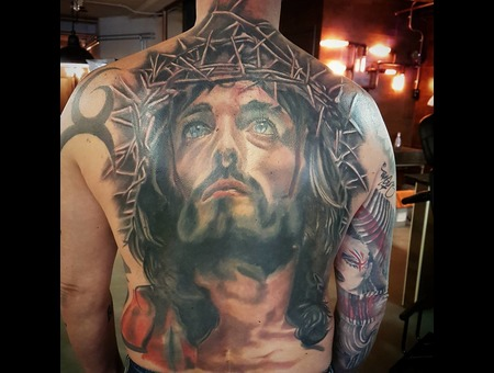 Jesus  Religious  Backpiece Color Back