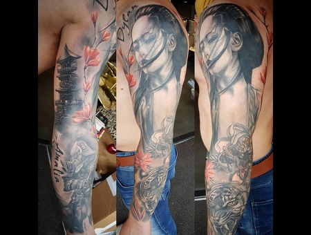 Japanese  Semi Realistic Color Arm