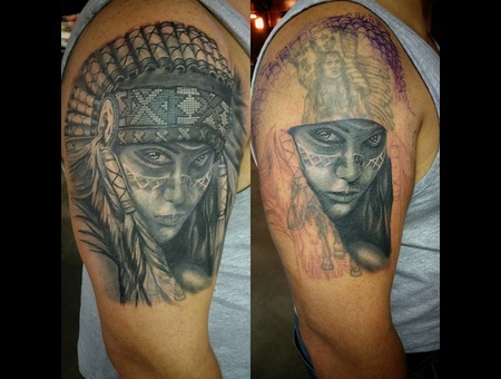 Native American  Sleeve  Cover Up Color Arm