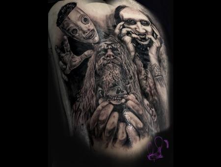 Marilyn Manson Rob Zombie Corey Taylor Black Grey