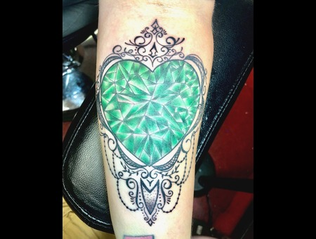 Emerald Tattoo  Realism Tattoo  Ornamental Tattoo  Color Forearm