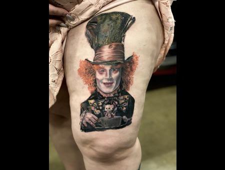 Mad Hatter  Tim Burton  Alice In Wonderland  Disney  Color Realism Color Thigh