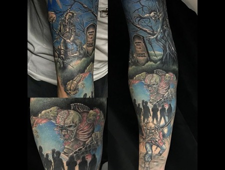 Iron Maiden Tattoo Color Arm