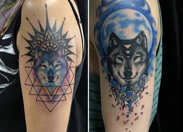Wolf Tattoo, Couple Tattoo