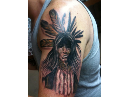 Warrior  Andrew Patterson  Avenue Tattoo  Wichita Falls  Texas  Color