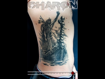 Charon  Mythology  Black And Grey  Ribs  Black Grey
