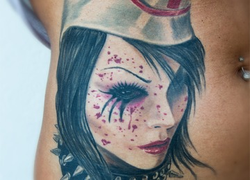 nurse, gothic, portrait,