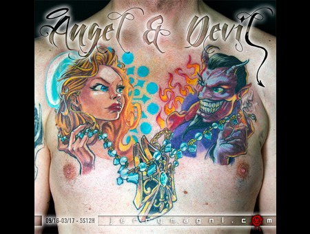 Cartoon  Angel  Devil  Chest Color