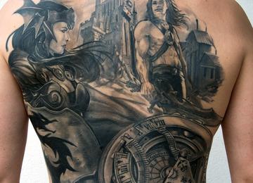 back piece, warriors, clock