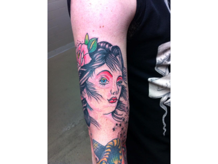 Girl  Andrew Patterson  Avenue Tattoo  Wichita Falls  Texas   Color