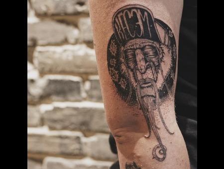 Black Tattoo On Arm Black Grey Forearm