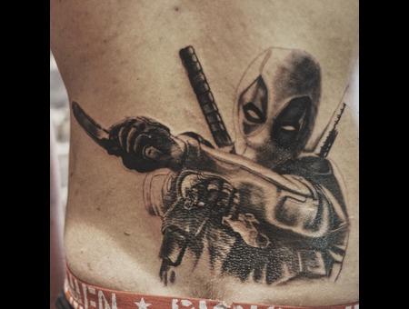 Comics Tattoo Black Grey Back