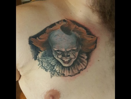 Clown  Pennywise  Portrait  Realism  Realistic  It  Itclown   Color Chest