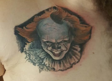 Clown, pennywise, portrait, realism, realistic, it, itclown,
