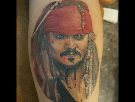 Jacksparrow  Captain  Portrait  Colorportrait  Realism  Realistic  Pirate   Color Lower Leg