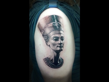Nefertiti  Pharaoh  Egypt  Portrait  Celebrity  History  3d Black Grey